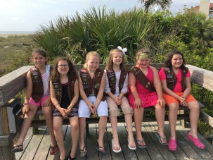 Troop 1445 at Beach