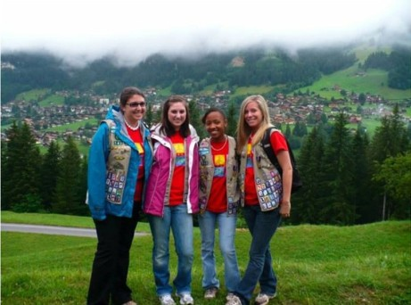Erin Kelly in Switzerland with troop